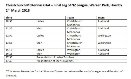 Fixtures for 2 March